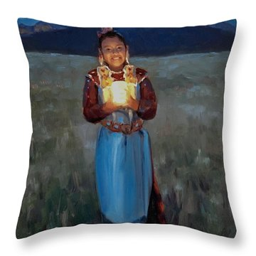 Catching The Moon Throw Pillow