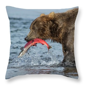Catching The Prize Throw Pillow
