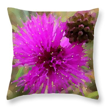 Catclaw Pink Mimosa  Throw Pillow