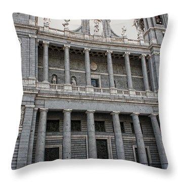 Catedral De La Almudena 2 Throw Pillow by Angel Jesus De la Fuente
