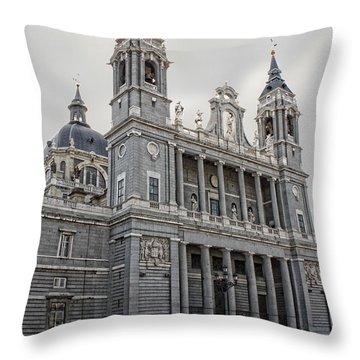 Catedral De La Almudena Throw Pillow by Angel Jesus De la Fuente