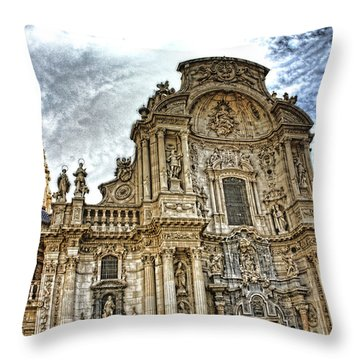 Catedral De Murcia Throw Pillow by Angel Jesus De la Fuente