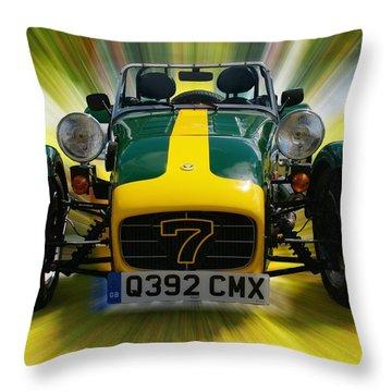 Caterham 7 Throw Pillow