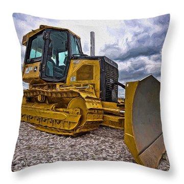 Caterpillar 650j Throw Pillow