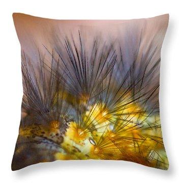 Caterpillar Hair Throw Pillow