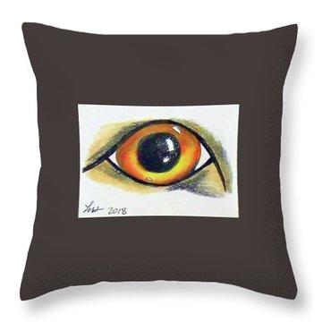 Cateye Throw Pillow