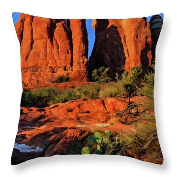 Cathedral 06-074 Throw Pillow by Scott McAllister