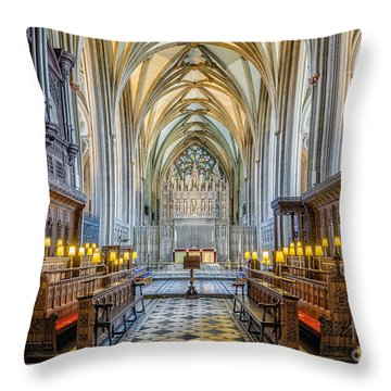 Cathedral Aisle Throw Pillow