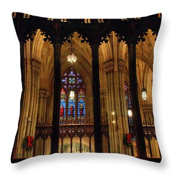 Throw Pillow featuring the photograph Cathedral Arches by Jessica Jenney
