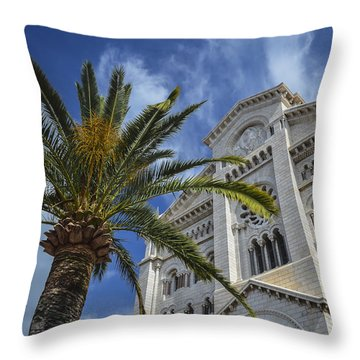 Throw Pillow featuring the photograph Cathedral At Monte Carlo by Allen Sheffield