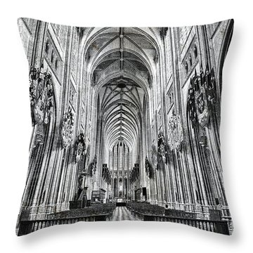 Cathedral At Orleans France Throw Pillow