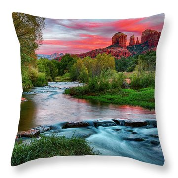 Cathedral At Sunset Throw Pillow