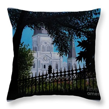 Cathedral At The Square Throw Pillow