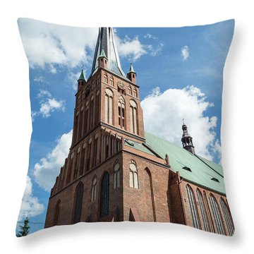 Cathedral Basilica Of St. James The Apostle, Szczecin A Throw Pillow
