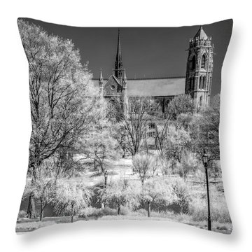 Throw Pillow featuring the photograph Cathedral Basilica Of The Sacred Heart Ir by Susan Candelario