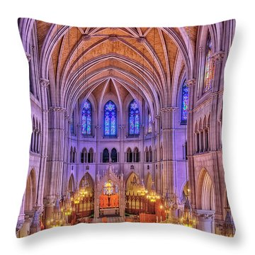 Throw Pillow featuring the photograph Cathedral Basilica Of The Sacred Heart Newark Nj II by Susan Candelario