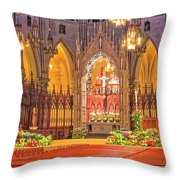 Throw Pillow featuring the photograph Cathedral Basilica Of The Sacred Heart Newark Nj by Susan Candelario
