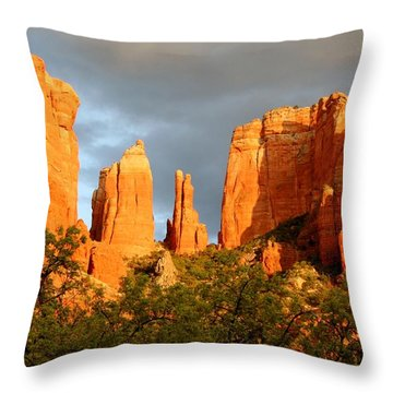 Cathedral Formation Throw Pillow