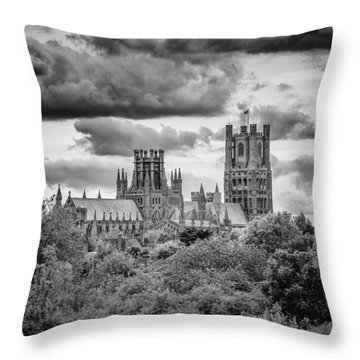Cathedral From The North-east Throw Pillow