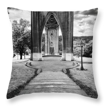 Cathedral Gates Throw Pillow by Ryan Manuel