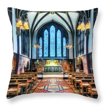 Cathedral Glow Throw Pillow
