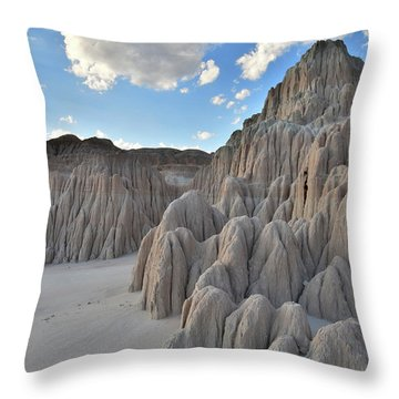 Cathedral Gorge State Park Throw Pillow
