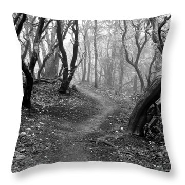 Cathedral Hills Serenity In Black And White Throw Pillow