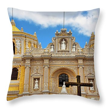 Cathedral In Antigua, Guatemala Throw Pillow