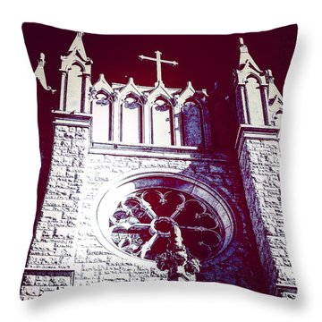 Cathedral In Archangel Glow Throw Pillow