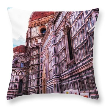 Throw Pillow featuring the photograph Cathedral In Rome by Linda Constant