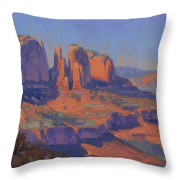 Cathedral In The Heat Throw Pillow