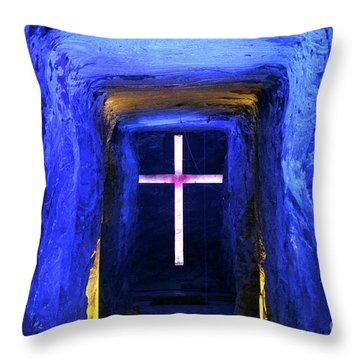 Cathedral In The Salt Mine Throw Pillow