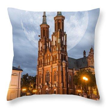 Cathedral Throw Pillow by Jaroslaw Grudzinski