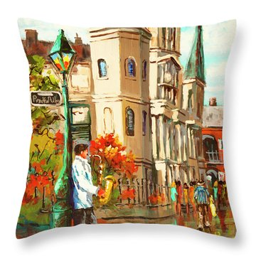 Cathedral Jazz Throw Pillow