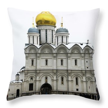 Cathedral Of Archangel Michael Throw Pillow