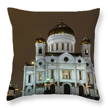 Cathedral Of Christ The Saviour Throw Pillow