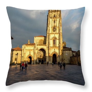 Cathedral Of Oviedo Throw Pillow