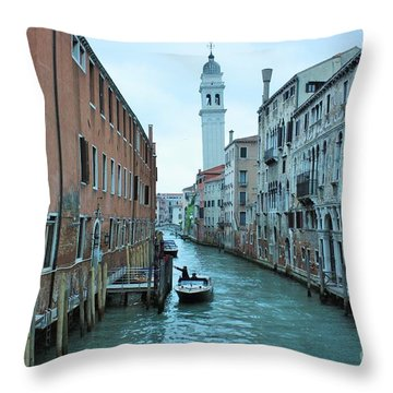 Cathedral Of San Giorgio Dei Greci Throw Pillow