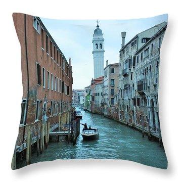 Cathedral Of San Giorgio Dei Greci Throw Pillow