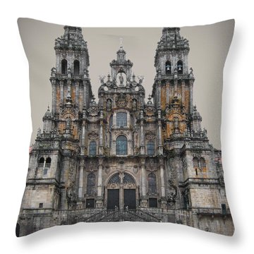 Cathedral Of Santiago De Compostela Throw Pillow