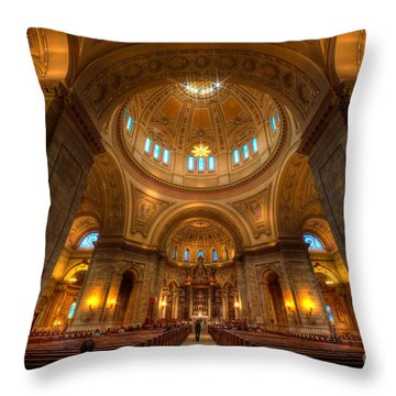 Cathedral Of St Paul Wide Interior St Paul Minnesota Throw Pillow