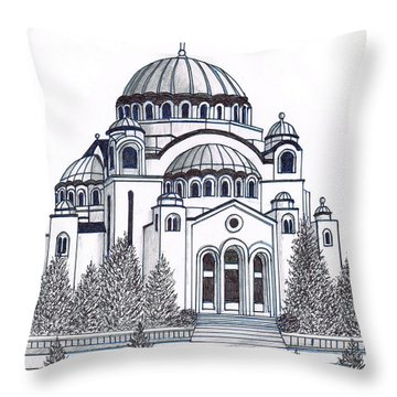 Cathedral Of St Savia Throw Pillow by Frederic Kohli