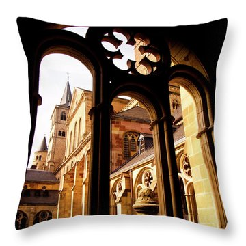 Cathedral Of Trier Window Throw Pillow