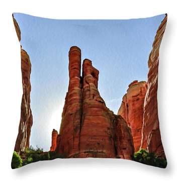 Cathedral Rock 05-155 Throw Pillow by Scott McAllister