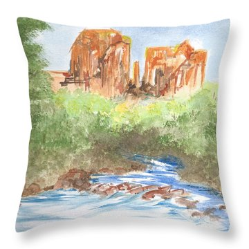 Cathedral Rock 2,  Sedona, Az. Throw Pillow