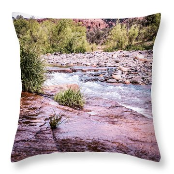 Cathedral Rock At Oak Creak Throw Pillow