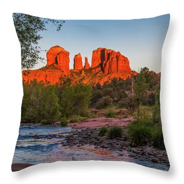 Cathedral Rock At Red Rock Crossing Throw Pillow