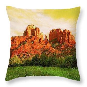 Cathedral Rock Az Throw Pillow