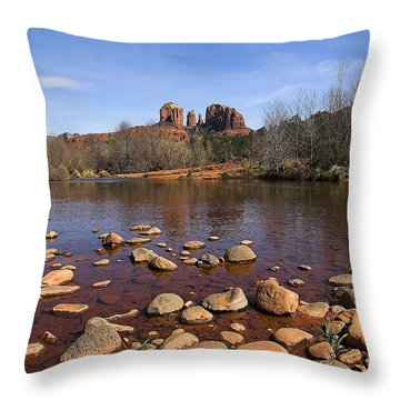 Cathedral Rock Throw Pillow by Dan Wells