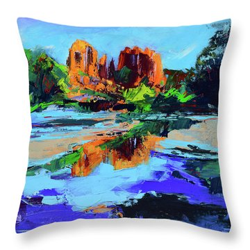 Cathedral Rock - Sedona Throw Pillow by Elise Palmigiani